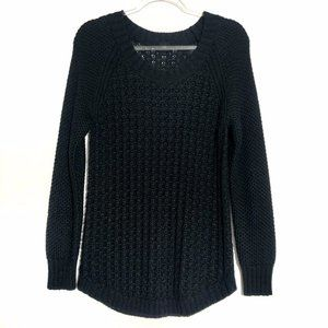 Calvin Klein Jeans (L) Black Knit Pullover Sweater